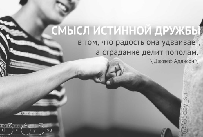 Цитата о дружбе