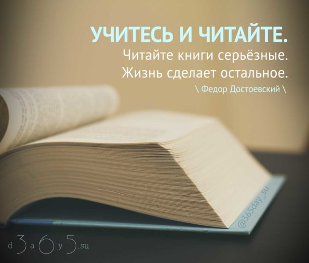 Цитата о учебе и чтении